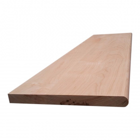 "Natural Unfinished Smooth Stair Tread Box Solid Hard Maple Unfinished Round Edge 36""x10-1/2''x7/8'' (7/8'' Front Lip) Stairs and Railings Treads at Steeles Flooring Brampton, Oakville, Missisauga, Toronto GTA Floor Installers."