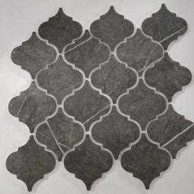 kitchen or bathroom Gray, Black Casa Roma Arabesco 3x3 Mosaic Pietra Backsplash Tile With Installation In Toronto (GTA), Brampton, Missisauga, Oakville, Vaughan and Ottawa