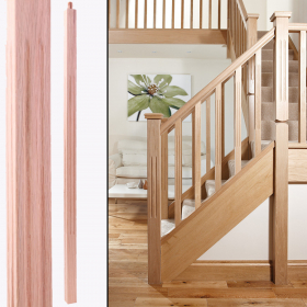 "Natural Unfinished Smooth Spindle Red Oak Square Fluted (1-1/4"" x 36"") Stairs and Railings Spindles at Steeles Flooring Brampton, Oakville, Missisauga, Toronto GTA Floor Installers."