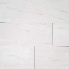 Matte Glazed 12x24 White Nuvolatto Smooth Matte Floor & Wall Porcelain Tile at Steeles Flooring in Brampton, Oakville, Vaughan, Toronto (GTA), Ottawa and Canada
