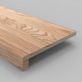 "Natural Square Edge, Unfinished Smooth Stair Tread Box Solid Red Oak Unfinished 36""x10-1/2''x7/8'' (1-1/2'' Front Lip) Stairs and Railings Treads at Steeles Flooring Brampton, Oakville, Missisauga, Toronto GTA Floor Installers."