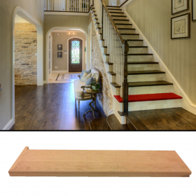 "Stair Tread Open Left Solid Red Oak Unfinished 42""x10-1/2''x7/8'' (1-1/2'' Front Lip)"