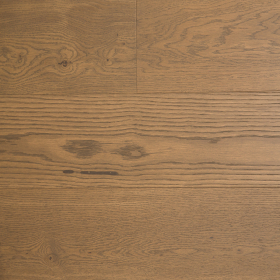 "Wide Plank Brown, Beige Oak Richman Gold 7"" Wire Brushed Engineered Hardwood Flooring From Vidar With a 3/4 inch Thickness and 7 inch Width From Steeles Flooring Brampton, Toronto (GTA), Oakville, Vaughan and Ottawa"
