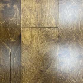"Wide Plank Brown, Beige Maple French Roast 6"" Click Engineered Hardwood Flooring From Vidar With a 1/2 inch Thickness and 6 inch Width From Steeles Flooring Brampton, Toronto (GTA), Oakville, Vaughan and Ottawa"