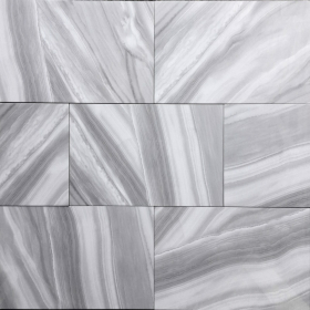 Polished Glazed 12x24 Gray Ocean Wave Dark Polished Floor & Wall Porcelain Tile at Steeles Flooring in Brampton, Oakville, Vaughan, Toronto (GTA), Ottawa and Canada