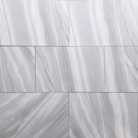 Polished Glazed 12x24 Gray White Ocean Wave Light Polished Floor & Wall Porcelain Tile at Steeles Flooring in Brampton, Oakville, Vaughan, Toronto (GTA), Ottawa and Canada